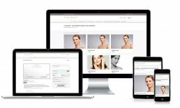 VoucherCart sales page mockup for Face Place London